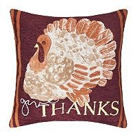 Celebrate Fall Together ''Give Thanks'' Turkey Throw Pillow