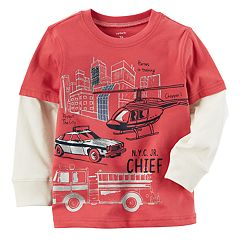 Baby Boy Carter's Rescue Slubbed Mock-Layer Graphic Tee