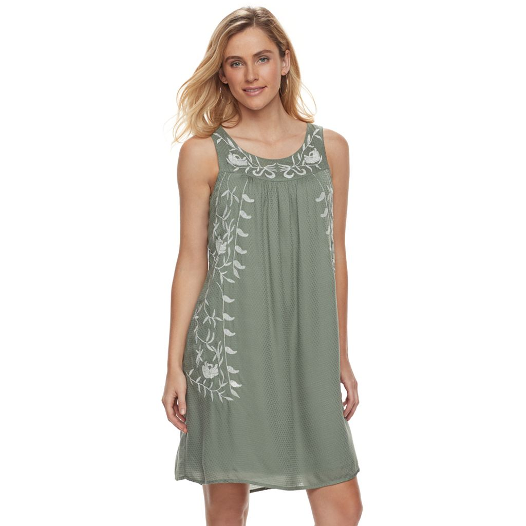 Women's SONOMA Goods for Life™ Embroidered Shift Dress