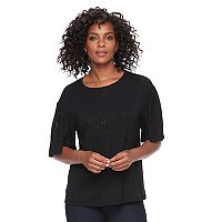 Women's Apt. 9® Glitter Elbow Sleeve Tee