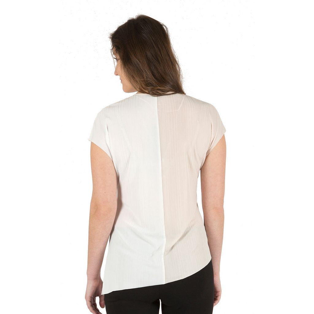 Women's Harve Benard Colorblock Asymmetrical Top