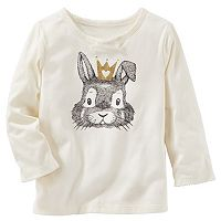 Toddler Girl OshKosh B'gosh® Bunny Rabbit & Crown Graphic Tee