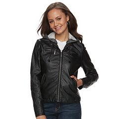 Juniors Black Faux Leather Coats & Jackets - Outerwear, Clothing ...