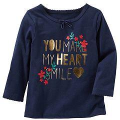 Baby Girl OshKosh B'gosh® 'You Make My Heart Smile' Graphic Tee