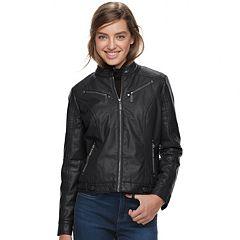 Juniors' J-2 Faux-Leather Moto Jacket