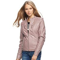 Juniors' J-2 Faux-Leather Moto Jacket