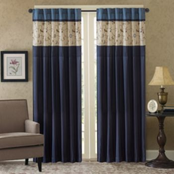 Madison Park 1-Panel Belle Embroidered Window Curtain