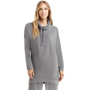Plus Size Cuddl Duds Stretch Fleece Funnel Neck Tunic