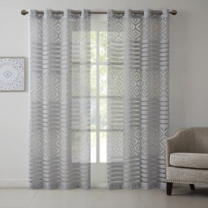 Madison Park Clara Geo Burnout Curtain