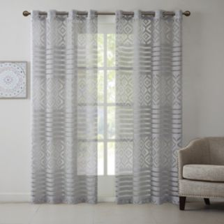 Madison Park Clara Geo Burnout Window Curtain