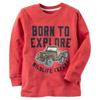 "Baby Boy Carter's ""Born To Explore Wildlife Expert"" Graphic Tee"