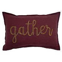 Celebrate Fall Together ''Gather'' Beaded Oblong Throw Pillow