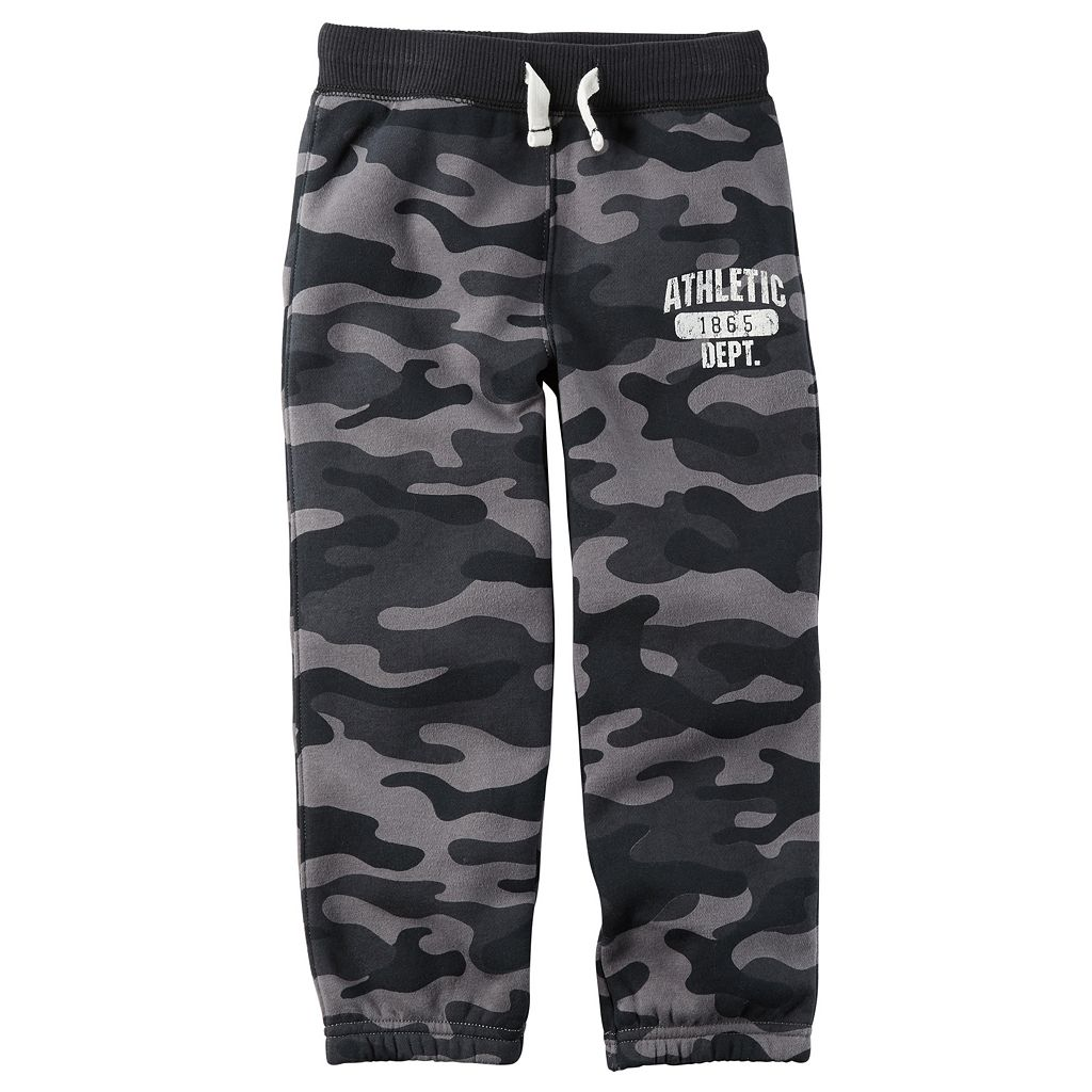 Baby Boy Carter's Camouflaged Fleece Pants