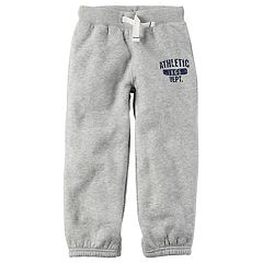 Toddler Boy Carter's Gray 'Athletic Dept.' Fleece Pants