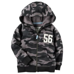 "Baby Boy Carter's Camouflaged ""56"" Zip Hoodie"