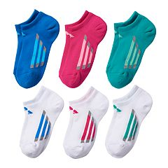 Girls adidas 6 pkCushion Vented No-Show Socks