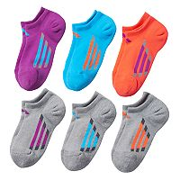 Girls adidas climalite 6 pkCushion No-Show Socks