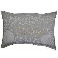 Celebrate Fall Together ''Thankful'' Oblong Throw Pillow