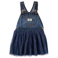 Toddler Girl OshKosh B'gosh® Denim & Glitter Dot Tulle Jumper