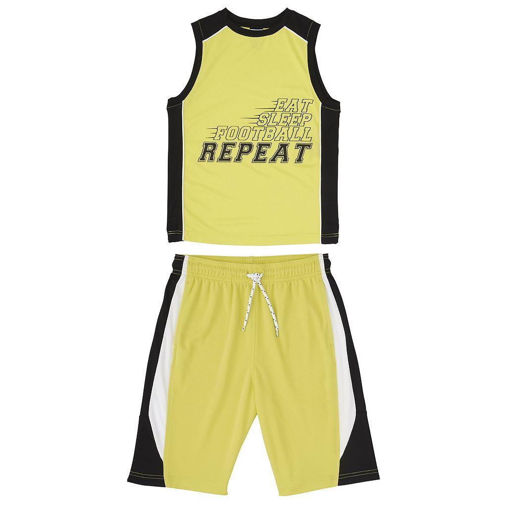 Boys 8-20 French Toast Tank & Shorts 2-Piece Active Set