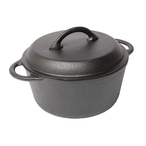 Country Cabin 5-qt. Pre-Seasoned Cast-Iron Round Dutch Oven