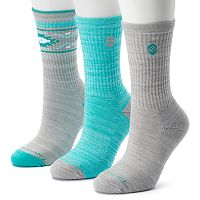 Women's Free Country 3-pk. Tribal Marled Crew Socks