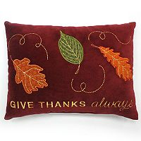 Celebrate Fall Together ''Give Thanks Always'' Oblong Throw Pillow