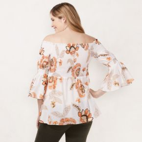 Maternity LC Lauren Conrad Smocked Off-the-Shoulder Top