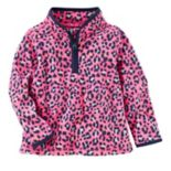 Toddler Girl OshKosh B'gosh® Cheetah Printed 1/2-Zip Fleece Pullover