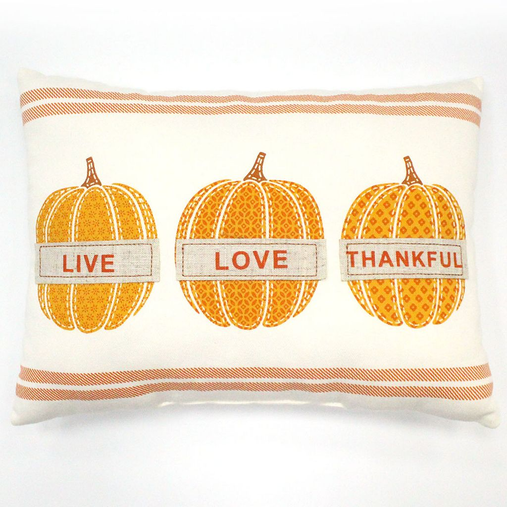 Celebrate Fall Together ''Live, Love, Thankful'' Oblong Throw Pillow