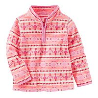 Toddler Girl OshKosh B'gosh® Fairisle 1/2-Zip Fleece Pullover