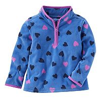Toddler Girl OshKosh B'gosh® Heart Printed 1/2-Zip Fleece Pullover