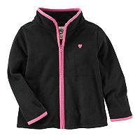 Toddler Girl OshKosh B'gosh® Black Fleece Zip Front Jacket