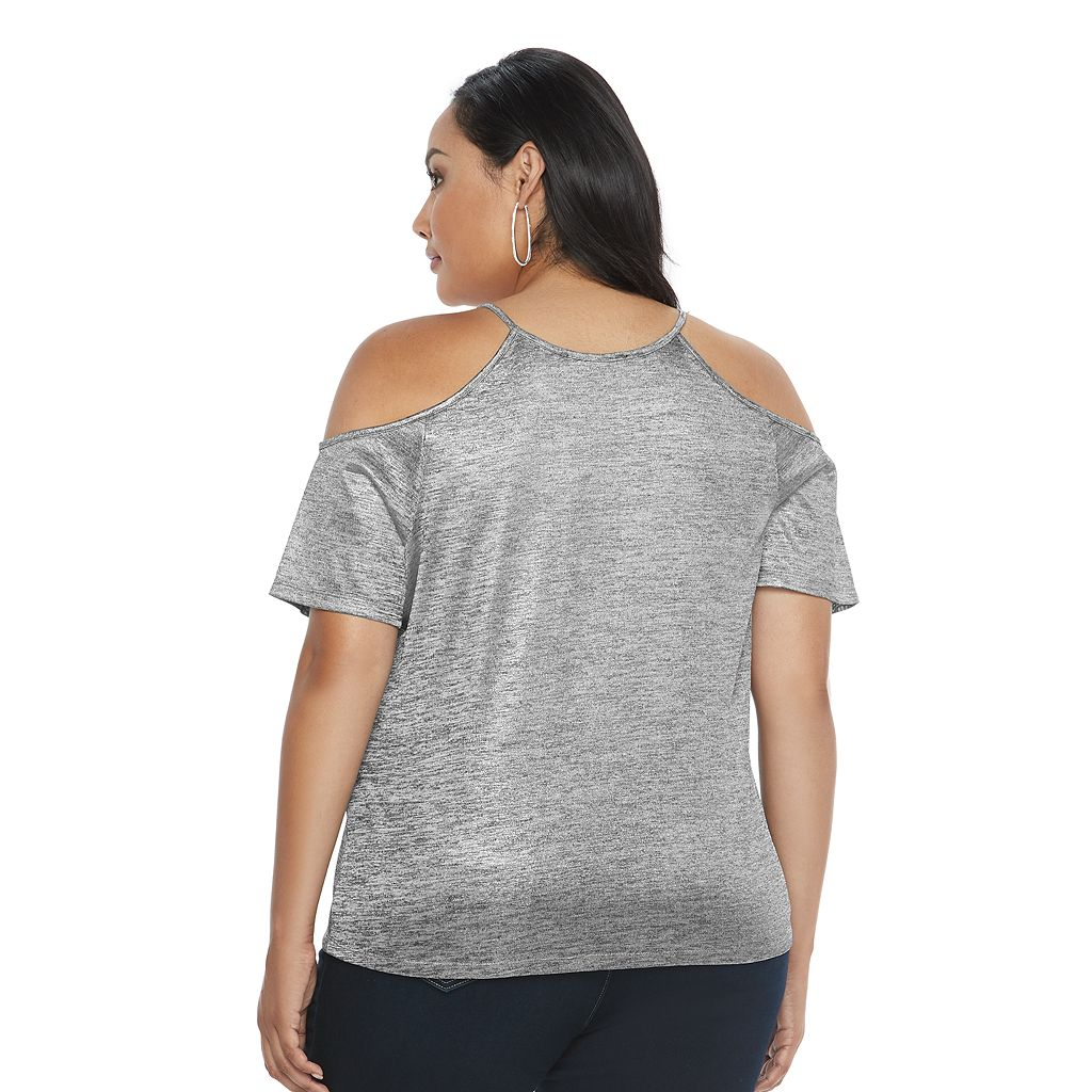 Plus Size Jennifer Lopez Cold-Shoulder Tee