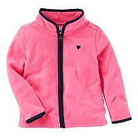 Toddler Girl OshKosh B'gosh® Solid Pink Microfleece Jacket