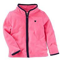 Toddler Girl OshKosh B'gosh® Solid Pink Microfleece Jacket