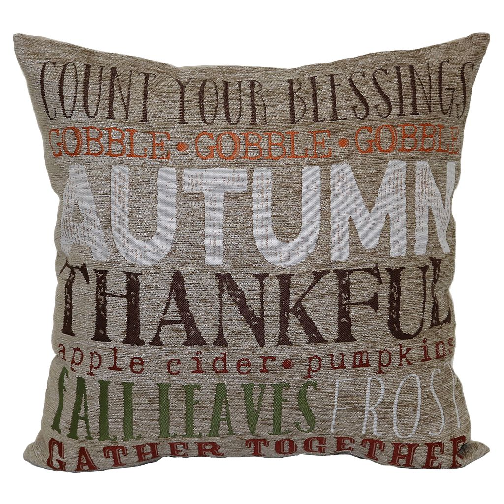Celebrate Fall Together Autumn Words Throw Pillow