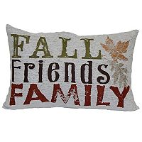 Celebrate Fall Together Fall Words Oblong Throw Pillow