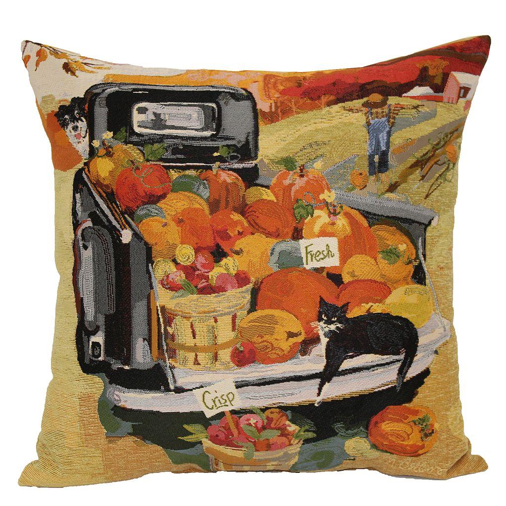 Celebrate Fall Together Pumpkin Truck Throw Pillow
