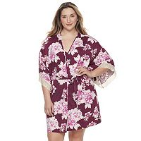 Plus Size Apt. 9® Dressed Up Comfort Floral Wrapper Robe