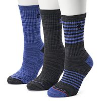 Women's Free Country 3-pk. Marled Stripe Crew Socks