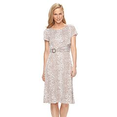 Women's Perceptions Dot A-Line Dress