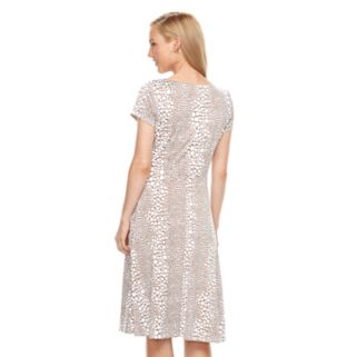 Women's Perceptions Dot A-Line Dress