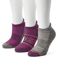 Women's Free Country 3-pk. Tribal Wool-Blend No-Show Socks