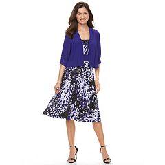 Women's Perceptions Cardigan & Dress Set