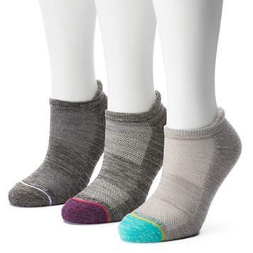 Women's Free Country 3-pk. Wool-Blend No-Show Socks