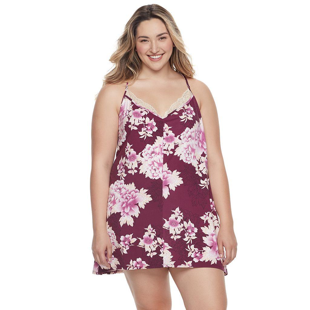 Plus Size Apt. 9® Pajamas: Dressed Up Comfort Knit Chemise