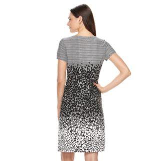 Women's Perceptions Abstract Pintuck Shift Dress