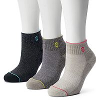 Women's Free Country 3-pk. Wool-Blend Quarter Socks
