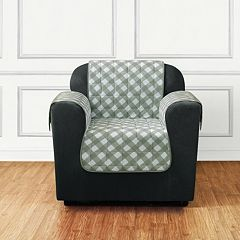 Sure Fit Furniture Flair Gingham Plaid Chair Slipcover